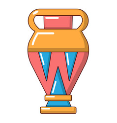 egyptian vase icon cartoon style vector image