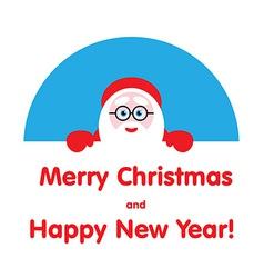 festive element Santa looks out vector image vector image