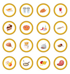 food icon circle vector image