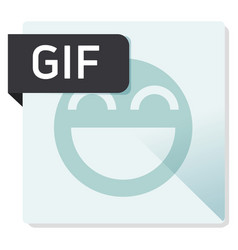 Gif document file format square icon vector