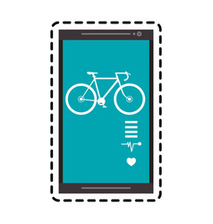 Heart rate monitor icon image vector
