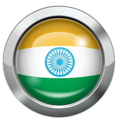 India flag metal button vector image