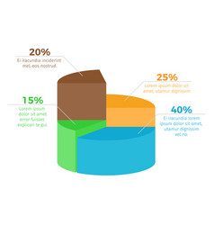 infographic with percentage on vector image