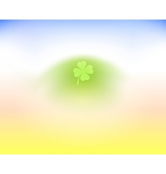 Irish Clover Leaf on light background vector image