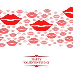 kiss card gorisontal pink vector image vector image