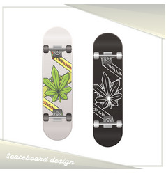 Medical marijuana skateboard one vector