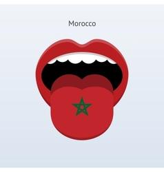 Morocco language abstract human tongue vector