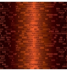 Orange security background with hex-code vector