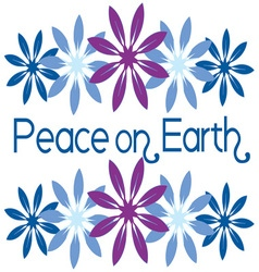 Peace on earth vector