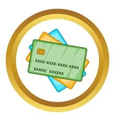 Plastic cards icon vector