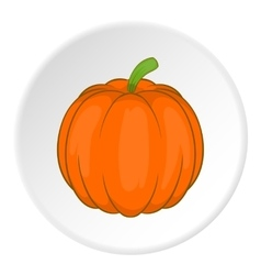 Pumpkin icon cartoon style vector