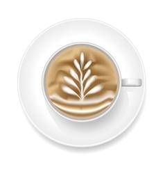 Realistic coffee foam vector