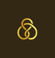 science technology symbol gold knot of gold vector image