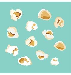 set of popcorn flat design vector image vector image