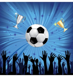 soccer championship background vector image vector image