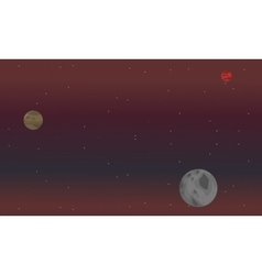 Space background landscape vector