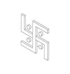 Swastika icon isometric 3d vector