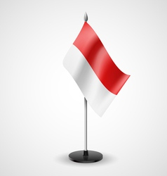 Table flag of indonesia vector