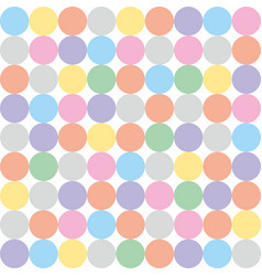tile pattern with pastel colorful polka dots vector image