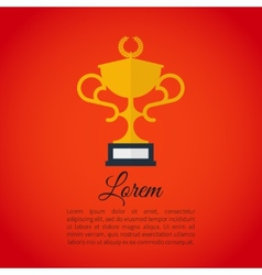 Winner award cup vector image vector image