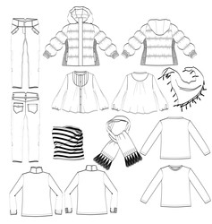 Womans clothing vector image