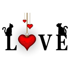 word love concept vector image
