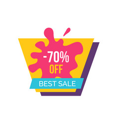 -70 off best sale label on vector image vector image