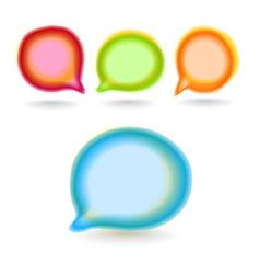 Set of round colour blur talk bubbles vector image