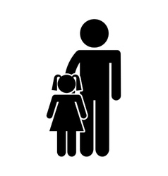 Family parents silhouette isolated icon vector