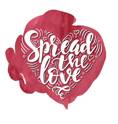 Spread the love inspirational hand drawn vector