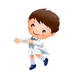 Boy dancing vector