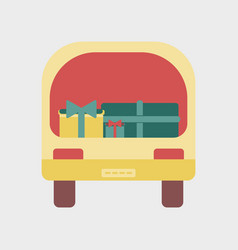flat icon of car gifts vector image