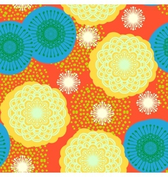 Multicolor floral pattern in bright colors vector