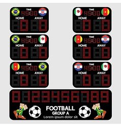 Scoreboard football tournament vector