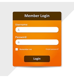 Member login template vector