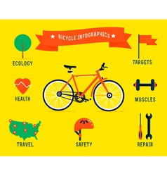 Bicycle infographics vector
