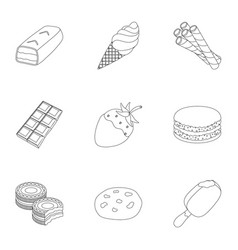 A set of chocolate sweets chocolate products for vector