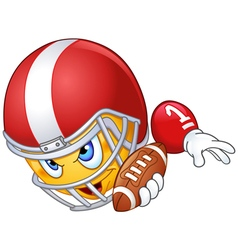 american football player emoticon vector image vector image