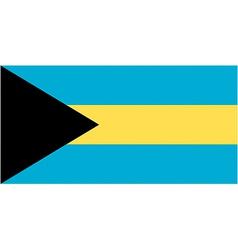 bahamian flag vector image vector image