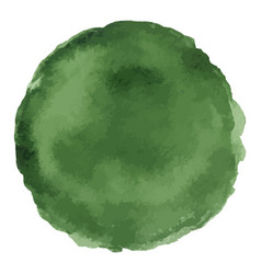 bright dark green watercolor painted stain vector image vector image