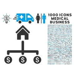 Building Payments Icon with 1000 Medical Business vector image