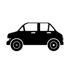car auto sedan side icon vector image