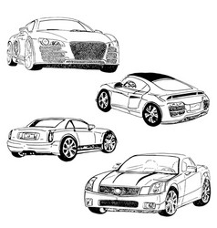 cars1 vector image vector image