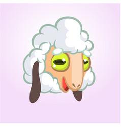 cartoon sheep mascot character vector image vector image