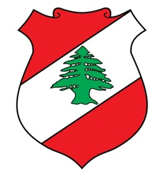 coat of arms of Lebanon vector image