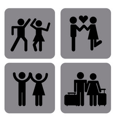 Couples icons design vector