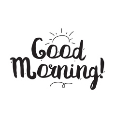 Good morning Greeting card with modern vector image