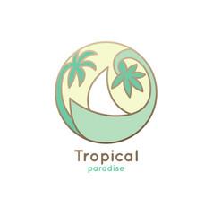 green logo sailboat vector image