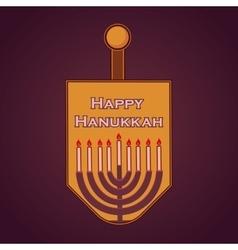 Hand sketched happy hanukkah logotype vector