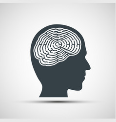 Human head with a labyrinth vector